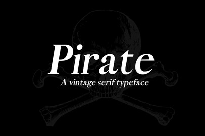 Pirate: A Vintage Serif Typeface