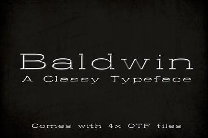 Baldwin: A Classy Typeface