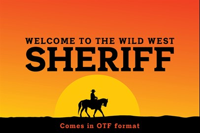 SHERIFF Typeface: A Font of the Wild West