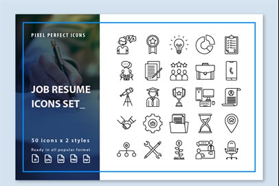 Job Resume Icons
