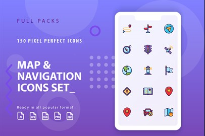 Map & Navigation Icons