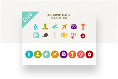 Android Pack 2000 Icons In Two Diverse Styles