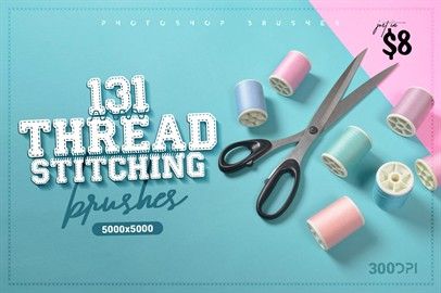 131 Thread Stitching Brushes