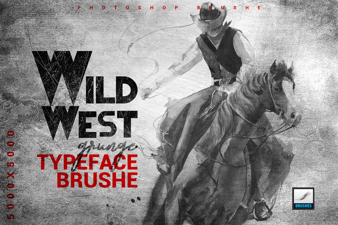 Wild west Typeface Brush