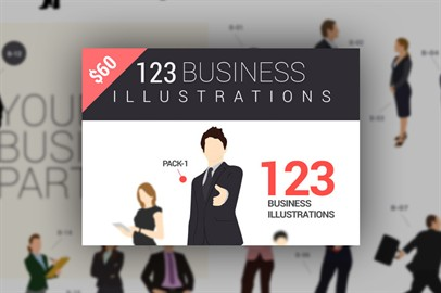 123 Business Illustrations Available In 2 Formats ai and svg