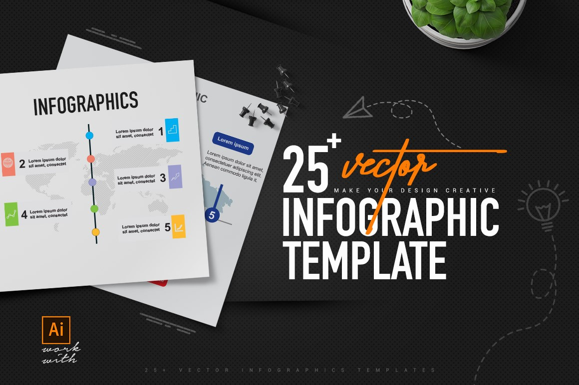 25+ Vector Infographics Templates
