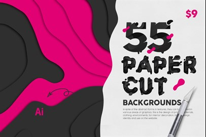 55 Paper Cut Backgrounds