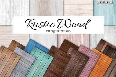 20 Rustic Wood Papers
