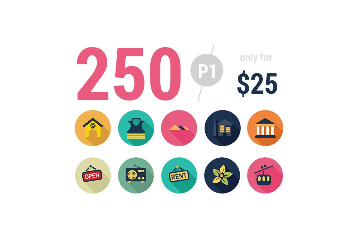 Flat Pack One A Collection Of 250 Icons Ai, SVG, PNG
