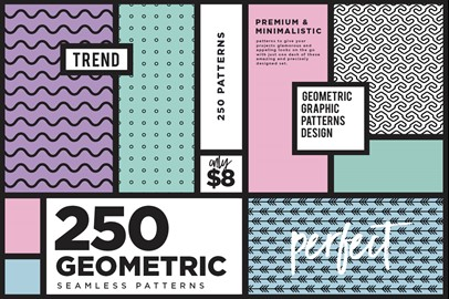 250 Geometric Seamless Patterns
