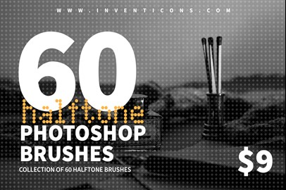 60 Halftone Photoshop Brushes