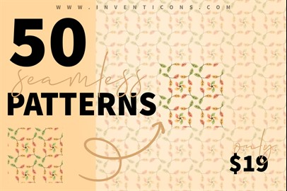 50 Chic Seamless Patterns