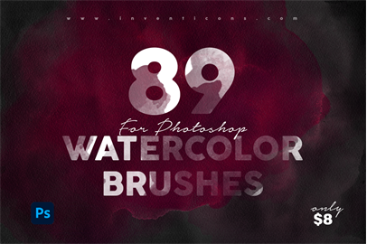 89 Realistic Watercolor Brushes - Photoshop