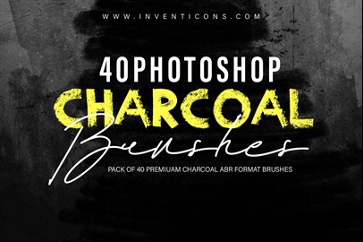 40 Charcoal Photoshop Brushes