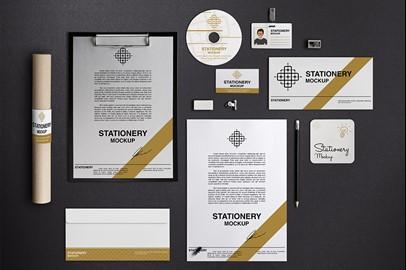 Branding Stationery Mockups - II