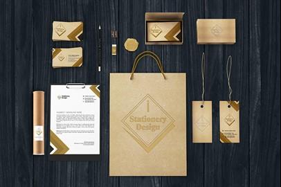 Branding Stationery Mockups - V