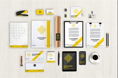 Branding Stationery Mockups - XI