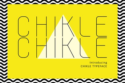 Chikle Chikle - Font