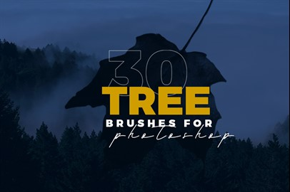 30 Realistic Tree Brushes for Photoshop