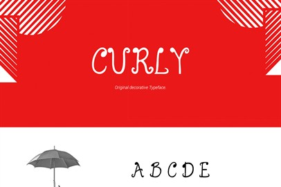 Curly Typeface