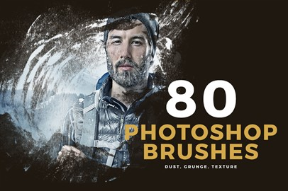 80 Photoshop Brushes - Dust, Grunge, Texture