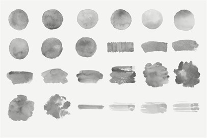 Watercolor Collection - 443 Photoshop Brushes