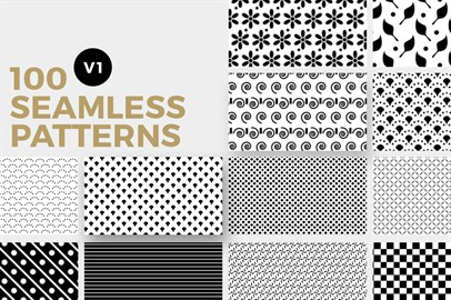 100 Seamless Photoshop Patterns - V1