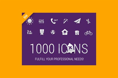 Fulfill Your Professional Needs! Download 1000 Icons
