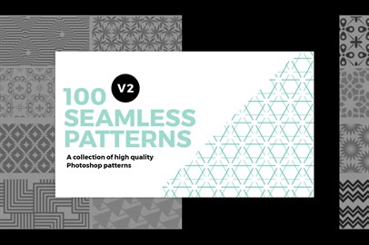 100 Seamless Photoshop Patterns - V2