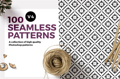 100 Seamless Photoshop Patterns - V4