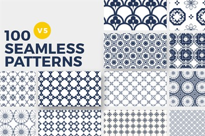 100 Seamless Photoshop Patterns - V5