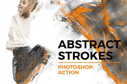 Abstract Strokes Photoshop Action