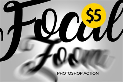 FOCAL ZOOM - Photoshop Action