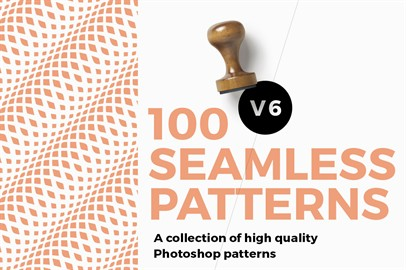 100 Seamless Photoshop Patterns - V6