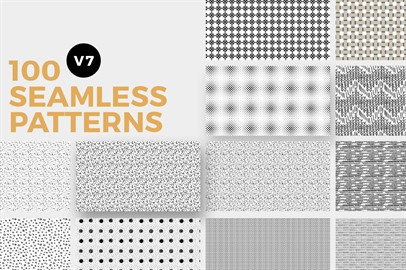 100 Seamless Photoshop Patterns - V7