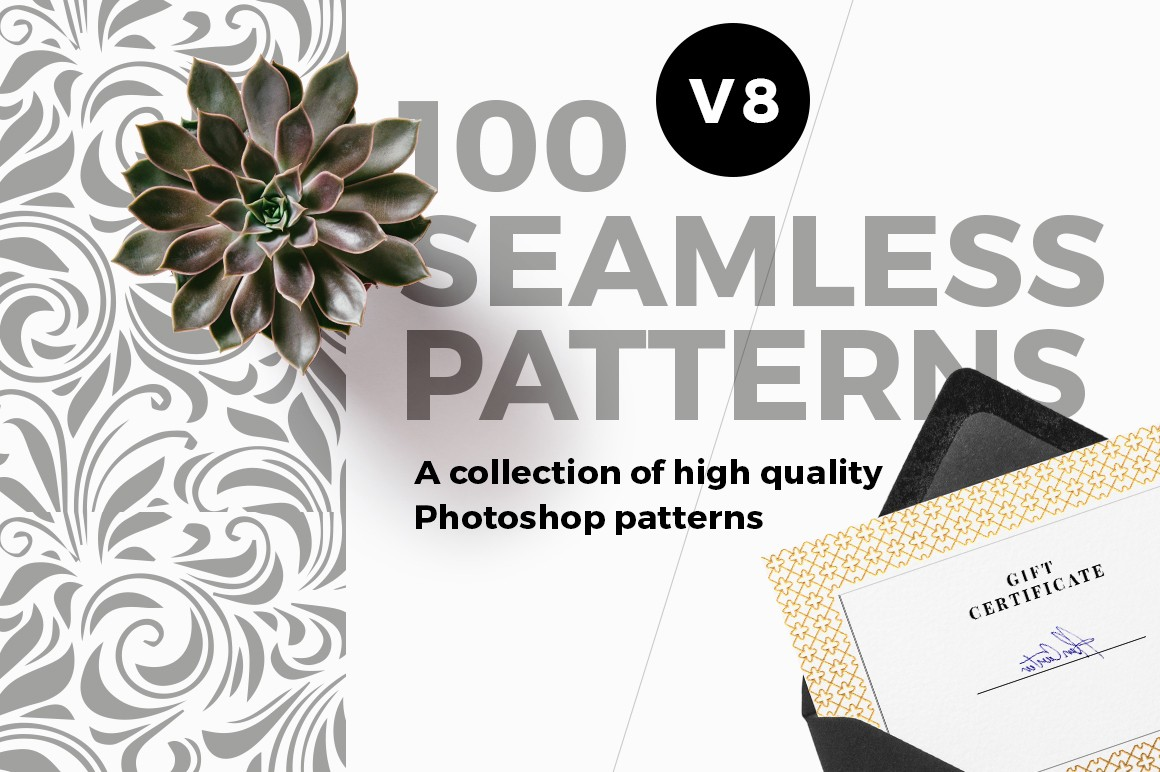 100 Seamless Photoshop Patterns - V8