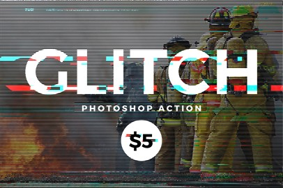 Glitch Effects - Photoshop Action