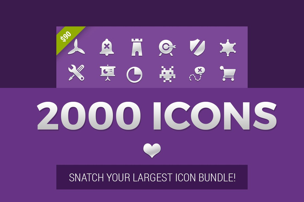 2000 Icons Snatch Your Largest Icon Bundle!