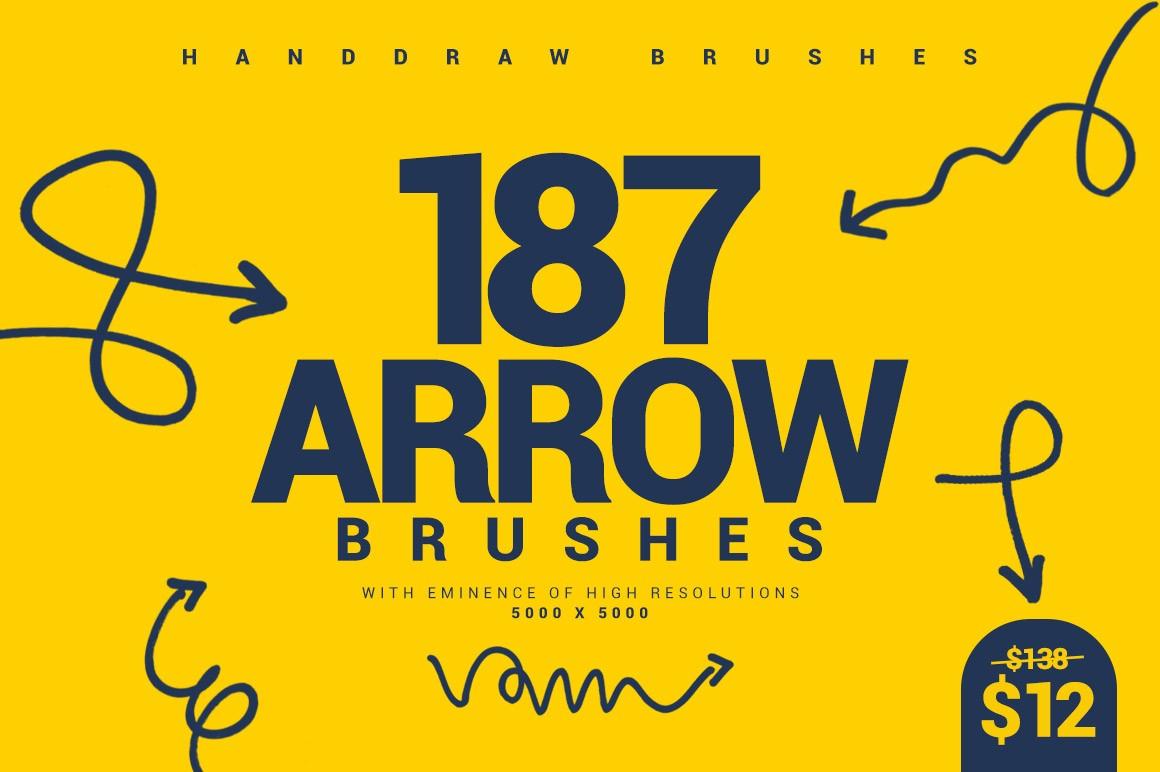 187 Arrow Brushes