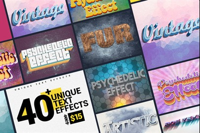 40+ Unique Text Effects